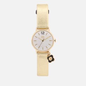 Orla Kiely Women's Solveig Leather Watch - Gold