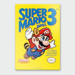 Affiche en Métal Vernis Nintendo Chromalux Super Mario 3