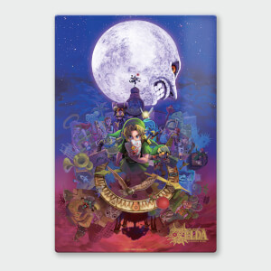 Nintendo Legend Of Zelda Majoras Mask Moon Chromalux High Gloss Metal Poster