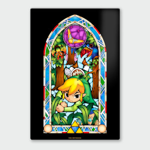 "Póster Chromaluxe Metal Brillante Nintendo ""The Legend of Zelda Boomerang"""