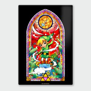 Nintendo Legend of Zelda Rapier ChromaLuxe Hoogglans Metalen Poster