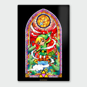Affiche en Métal Vernis Nintendo Legend of Zelda Rapier Chromalux