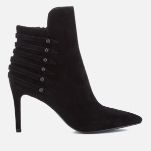 Kendall + Kylie Women's Leah Suede Heeled Shoe Boots - Black