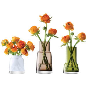 LSA Chimney Mini Vases - Multi (Set of 3)