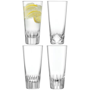LSA Tatra Mixer Cut Glasses - 315ml (Set of 4)