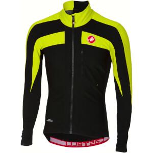Castelli Trasparente 4 Long Sleeve Jersey - Light Black/Yellow Fluo