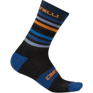 Castelli Gregge 15 Socks - Anthracite/Orange