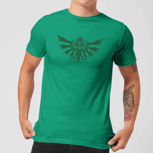T-Shirt Nintendo The Legend Of Zelda Tribal Hyrule Crest - Verde - Uomo