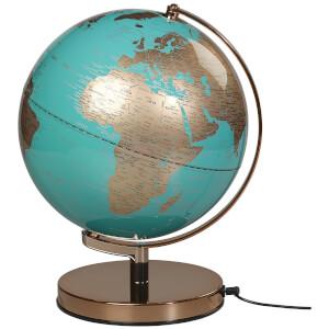 Wild Wood 25cm Globus-Licht – Metallisches Kupfer/ Azurblau