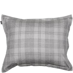 GANT Home Flannel Check Pillowcase - Grey - 50 x 75cm