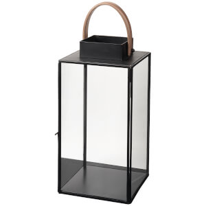 Broste Copenhagen Steinn Lantern - Leather Black
