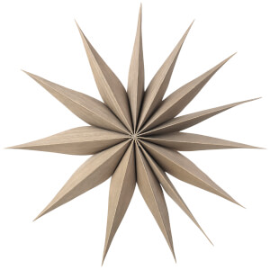 Broste Copenhagen Wooden Star Decoration Venok Medium - Fungi
