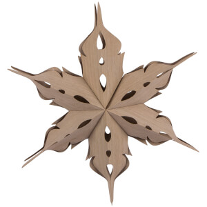 Broste Copenhagen Veneer Christmas Star Decoration - Rainy Day