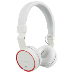 AV: Link Wireless Bluetooth On-Ear Noise Cancelling Headphones (With Built-in FM Radio) - White