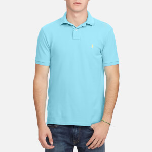 Polo Ralph Lauren Men's Weathered Mesh Short Sleeve Polo Shirt - Aqua