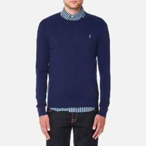 Polo Ralph Lauren Men's Cotton Blend Long Sleeve Sweater - Navy