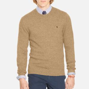 Polo Ralph Lauren Men's Cotton Long Sleeve Sweater - Camel Melange