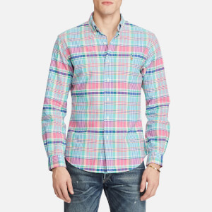 Polo Ralph Lauren Men's Oxford Slim Fit Long Sleeve Shirt - Pink/Blue