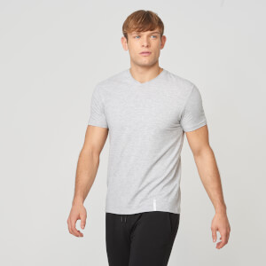 Luxe Classic V-Neck T-Shirt - Grey Marl