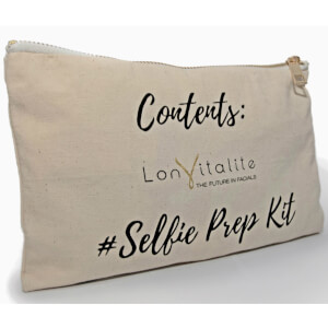 Lonvitalite Canvas Selfie Prep Kit Cosmetic Bag
