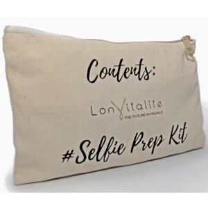 Lonvitalite Canvas Selfie Prep Kit Cosmetic Bag