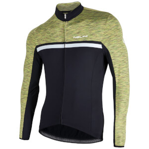 Nalini Dubhe Long Sleeve Thermo Knit Jersey - Black/Green