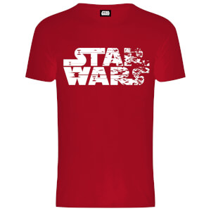 """Camiseta Star Wars Los Últimos Jedi """"Logo Difuminado"""" - Hombre - Rojo"""