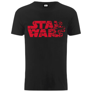 Star Wars Men's The Last Jedi Faded Logo T-Shirt - Black