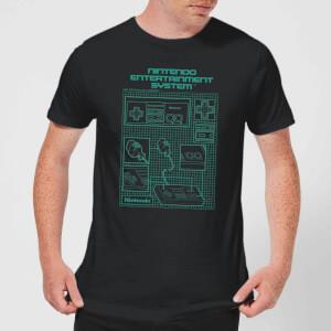 Nintendo® NES Controller Blueprint T-Shirt - Schwarz