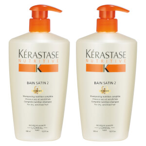 Shampooing Bain Satin 2 Kérastase Nutritive Duo 500 ml