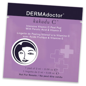 DERMAdoctor Kakadu C Intensive Vitamin C Peel Pad with Ferulic Acid and Vitamin E (Free Gift)