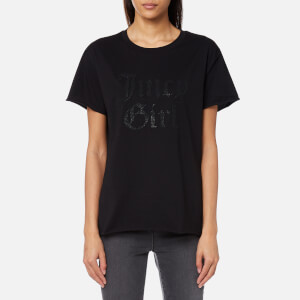 Juicy Couture Women's Juicy By Juicy Girl Embellished T-Shirt - Pitch Black