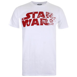 Star Wars Men's The Last Jedi Rebel Text Logo T-Shirt - White