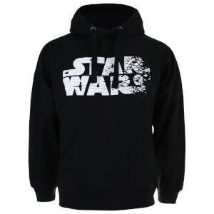 Star Wars Men's The Last Jedi Rebel Text Logo Hoody - Black