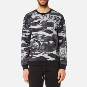 Versace Jeans Men's Tiger Camo Sweatshirt - Grigio Medio
