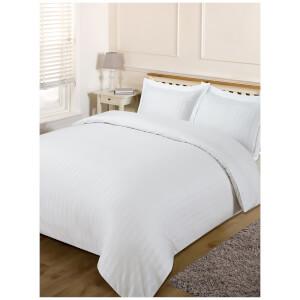 Brentfords Satin Stripe Duvet Set - White