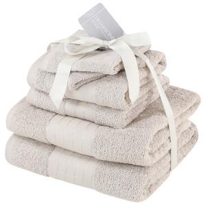 Highams 100% Cotton 6 Piece Towel Bale (500GSM) - Natural