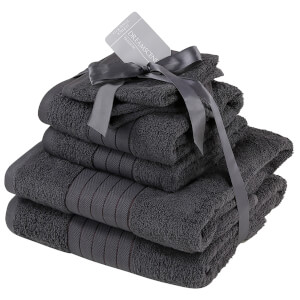 Highams 100% Cotton 6 Piece Towel Bale (500GSM) - Charcoal