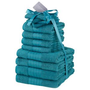 Highams 100% Cotton 12 Piece Towel Bale (500GSM) - Teal