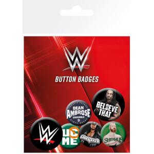 WWE Logos Badge Pack