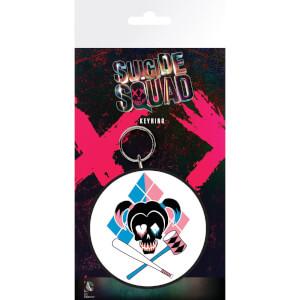Suicide Squad Harley Skull Keyring