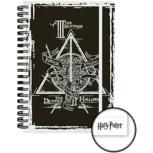 Harry Potter Deathly Hallows Graphics A5 Notebook