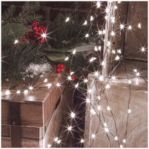 Christmas Workshop LED Copper Cable Waterfall Lights 2m - 600 Lights