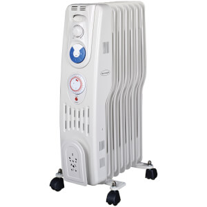 Silentnight 7 Fin S Type Oil Filled Radiator with Timer 1.5Kw