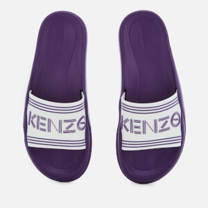 KENZO Women's Flat Slide Sandals - White