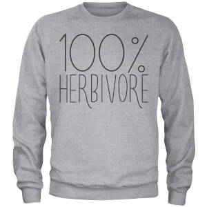 100% Herbivore Sweatshirt - Grey