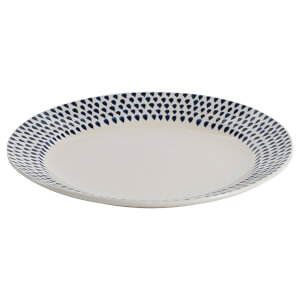 Nkuku Indigo Drop Side Plate - Cream and Indigo