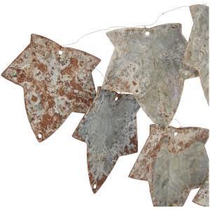 Nkuku Abari Garland Wire Leaf - Aged Zinc: Image 2