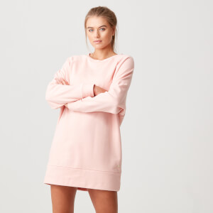 Luxe Lounge Sweater Dress - Blush - XS