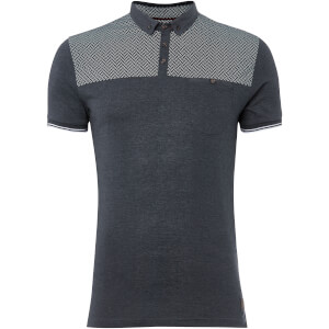 Brave Soul Men's Aqua Polo Shirt - Denim Marl